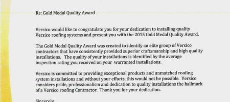 Gold Medal Quality Award